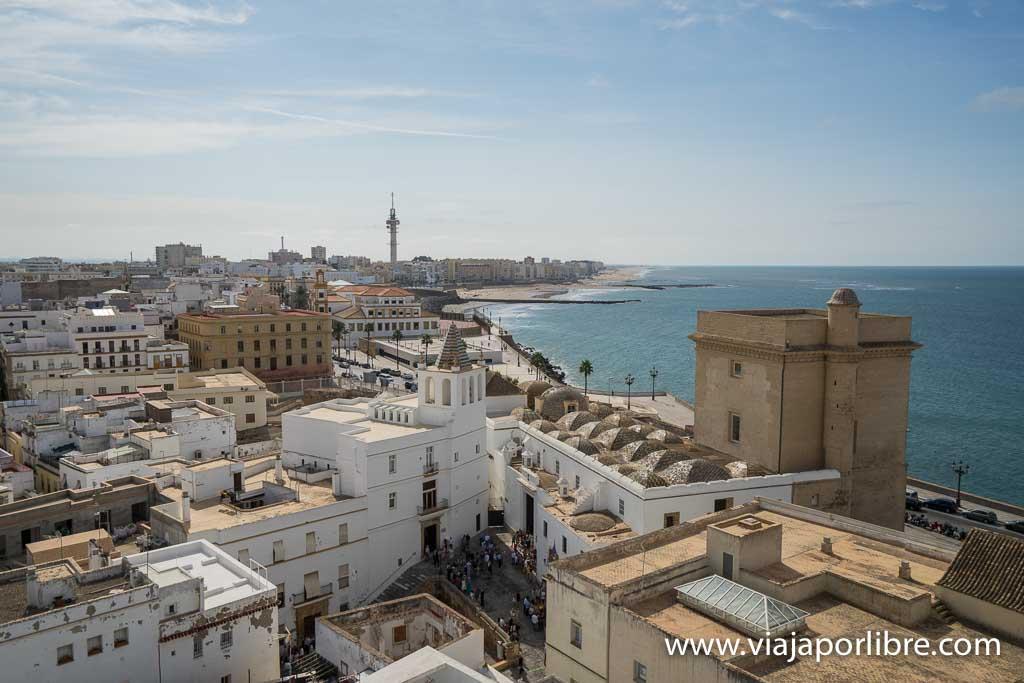 Vistas desde la Catedral de Cadiz
