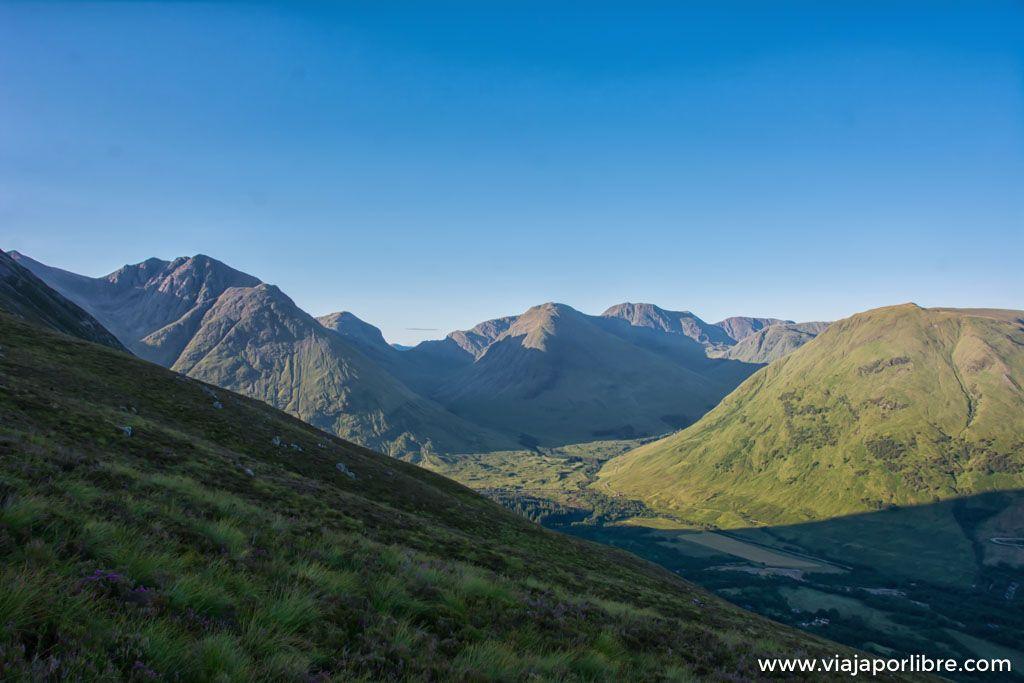 Senderismo en Escocia por la zona de Glencoe