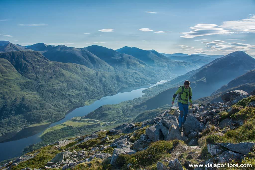 Senderismo en Escocia. Los alrededores de Glencoe