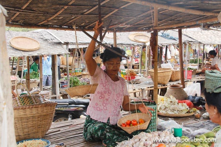 Un mercado en Asia