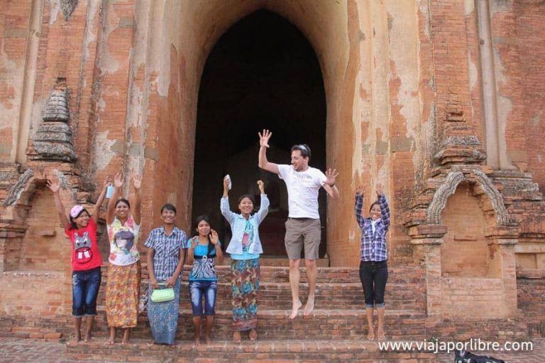 En un templo en Asia