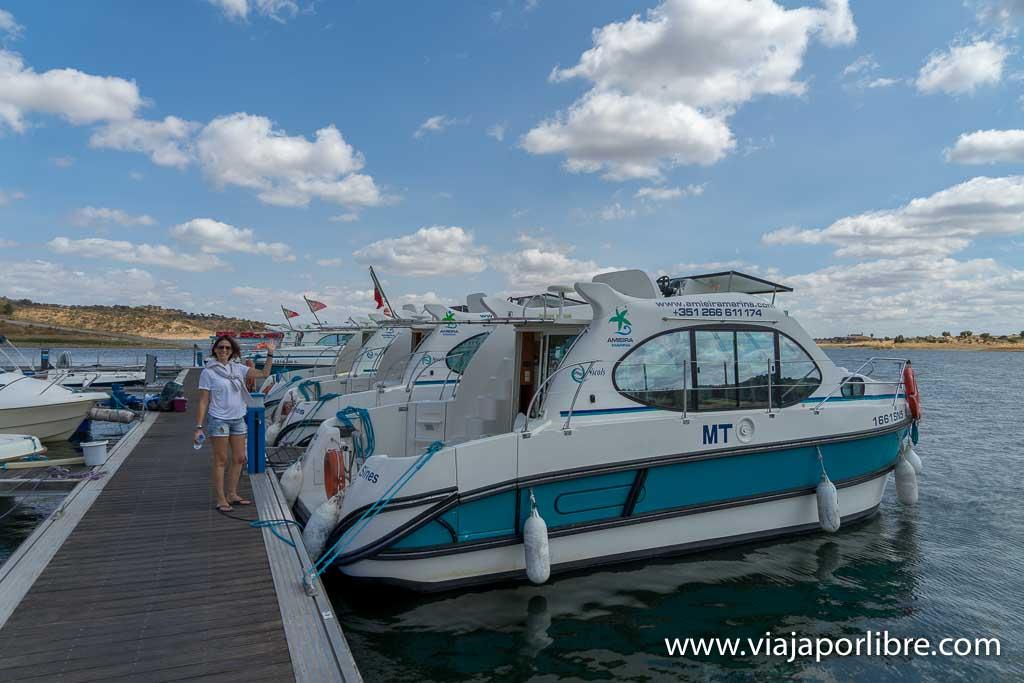 Barcos en el Lago Alqueva