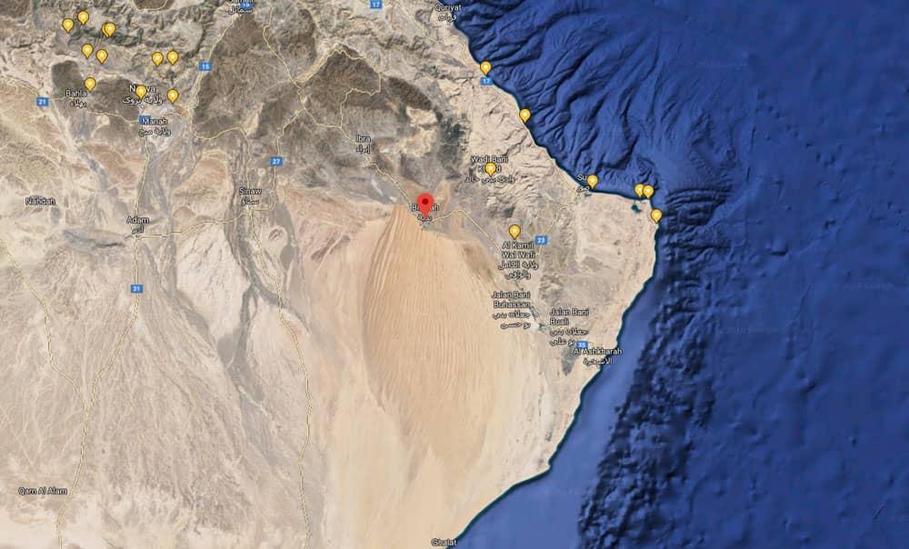 Mapa del desierto