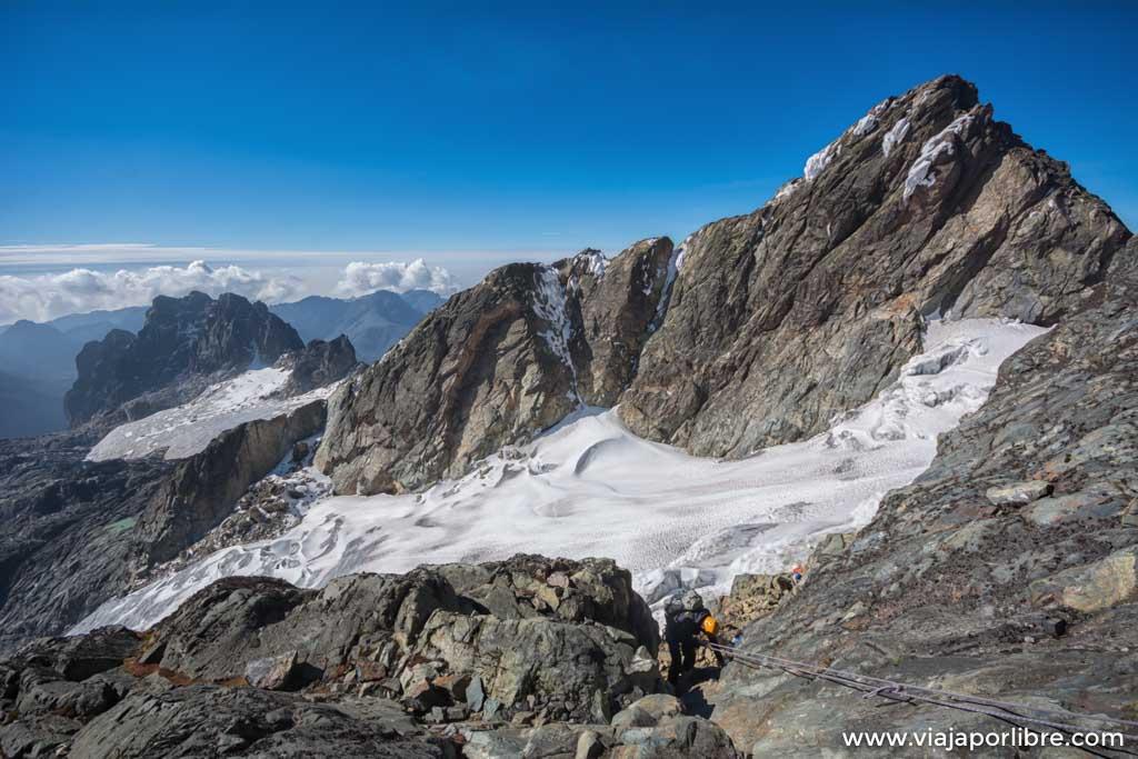 Ascensión al pico Margherita