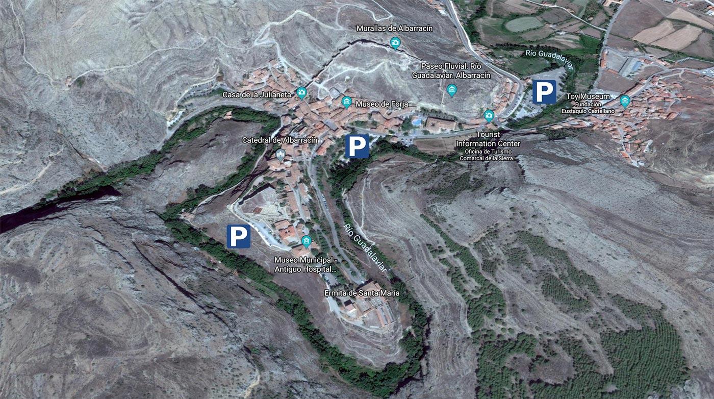 Mapa de Albarracín