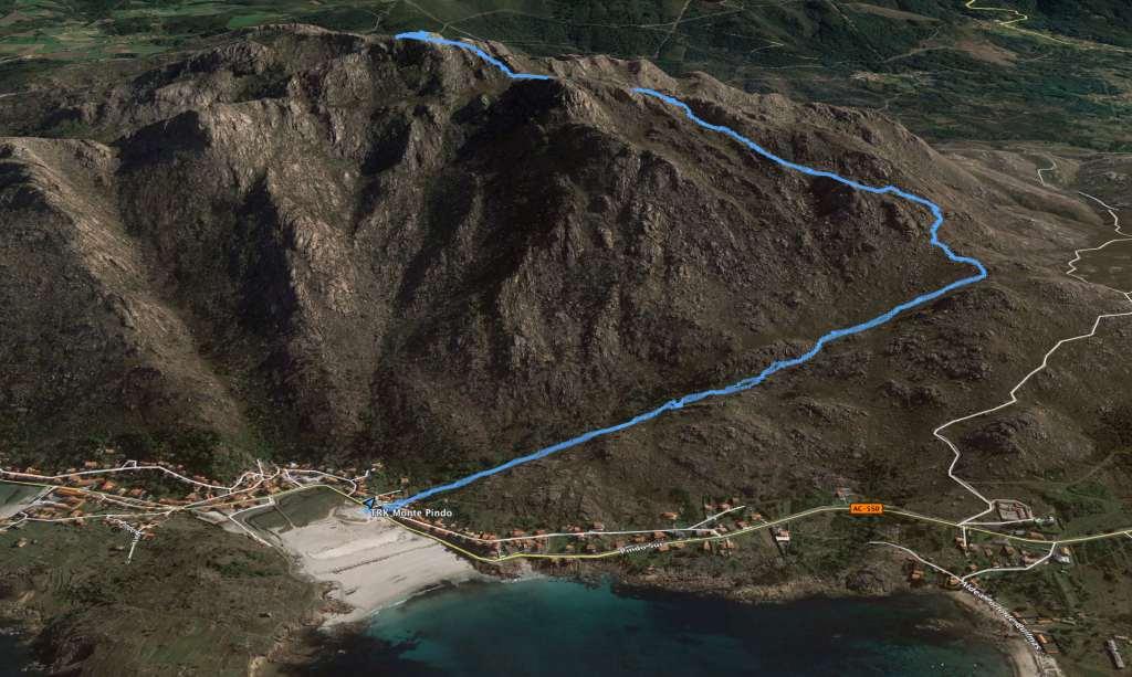 Monte Pindo desnivel