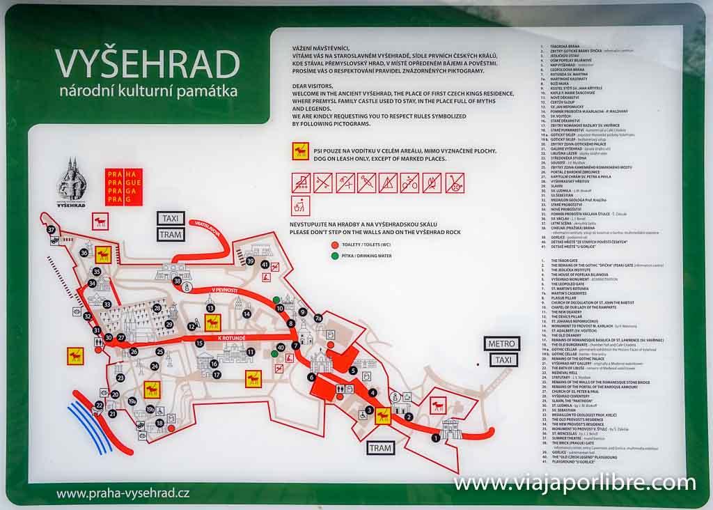 Plano de Vysehrad
