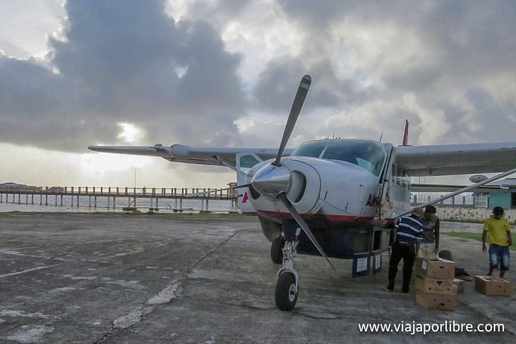 Clásica avioneta de Panamá