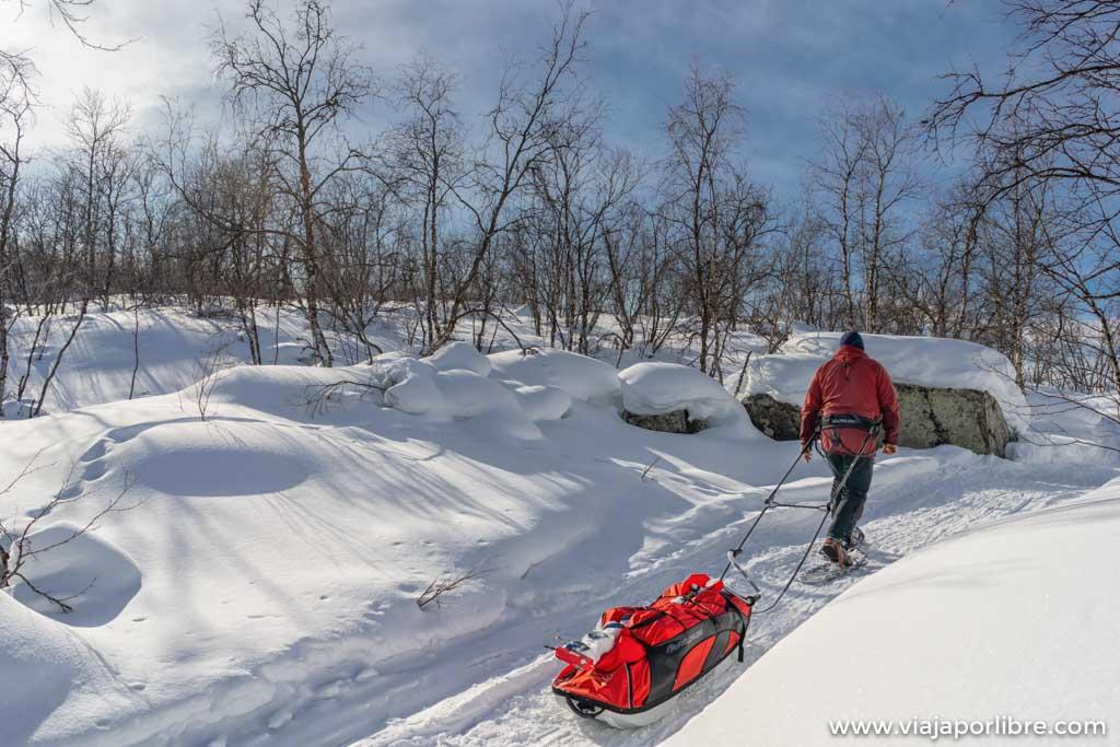 Raquetas de nieve en Karasjok (Noruega)