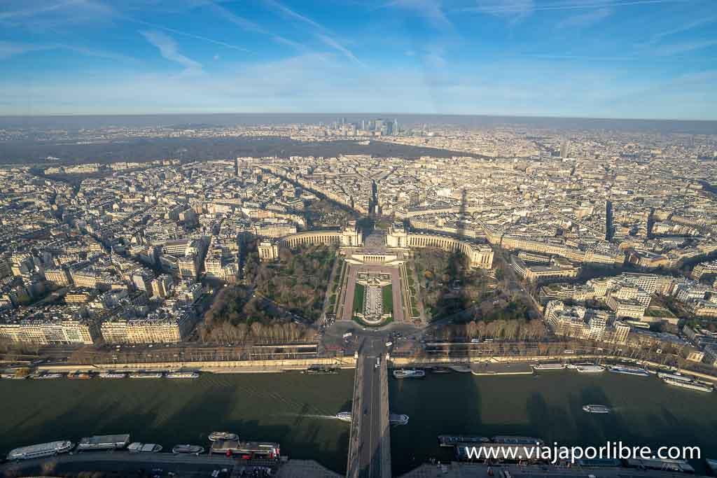 Torre Eiffel desde la última planta