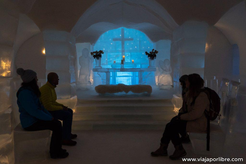 Como son los hoteles de hielo en la Laponia Noruega