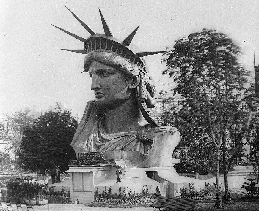 Cabeza de la Estatua de la Libertad en la expo de 1878
