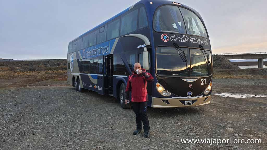 Autobús de Calafate a El Chaltén