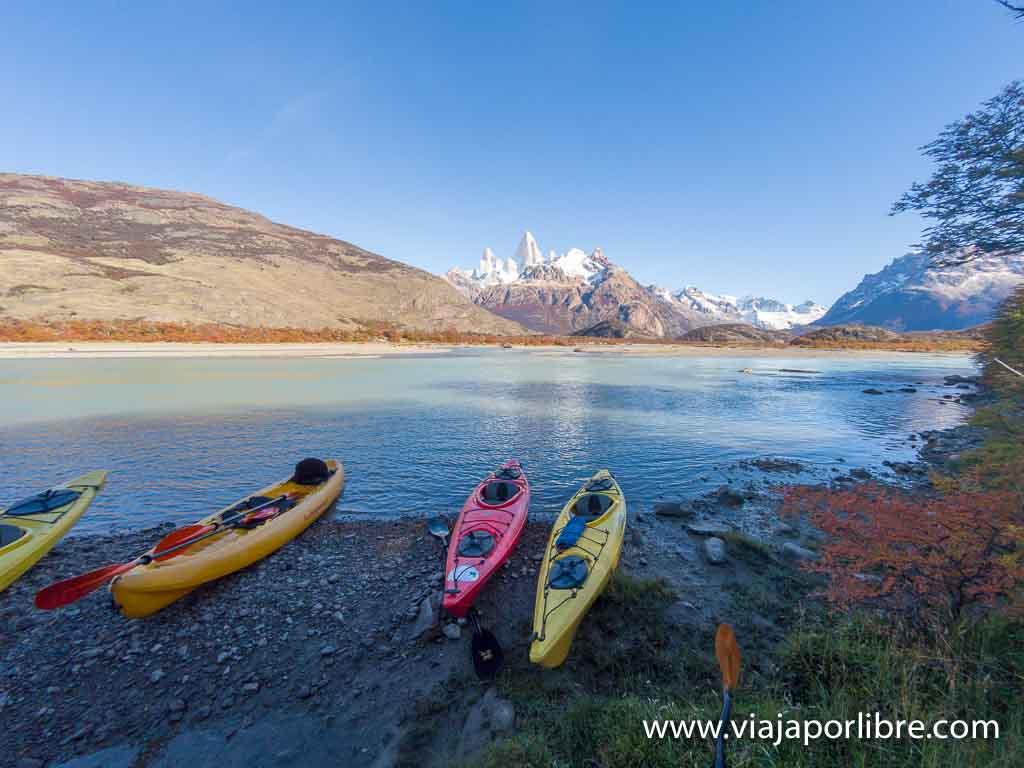 Kayak en El Chaltén