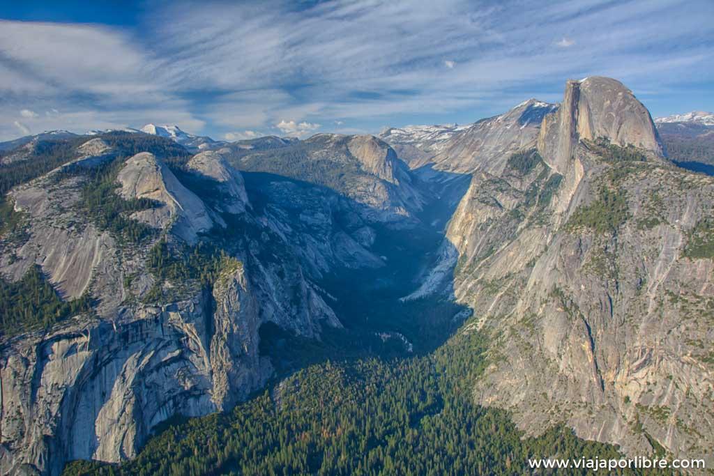 Glacier Point y Tunel View, las vistas mas famosas de Yosemite