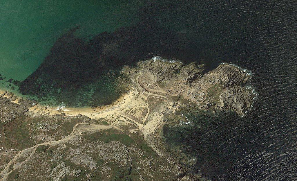 Imagen del castro vía Google Earth