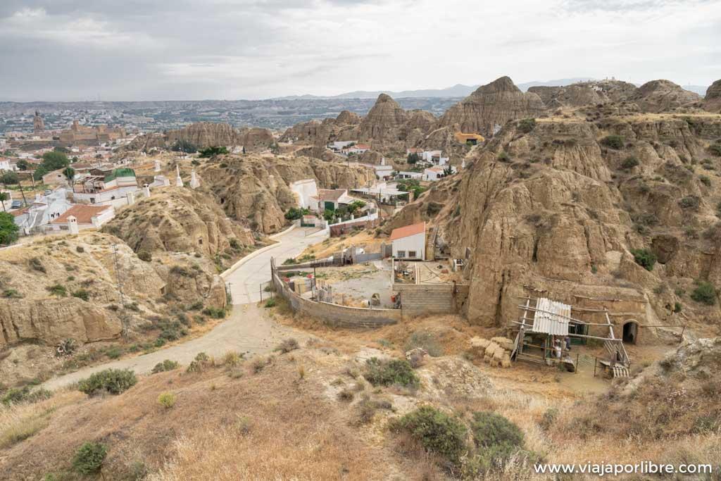 El barrio de las Cuevas de Guadix