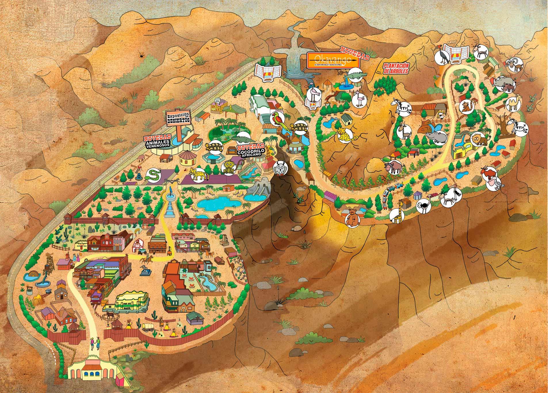 Mapa de Oasys Minihollywood