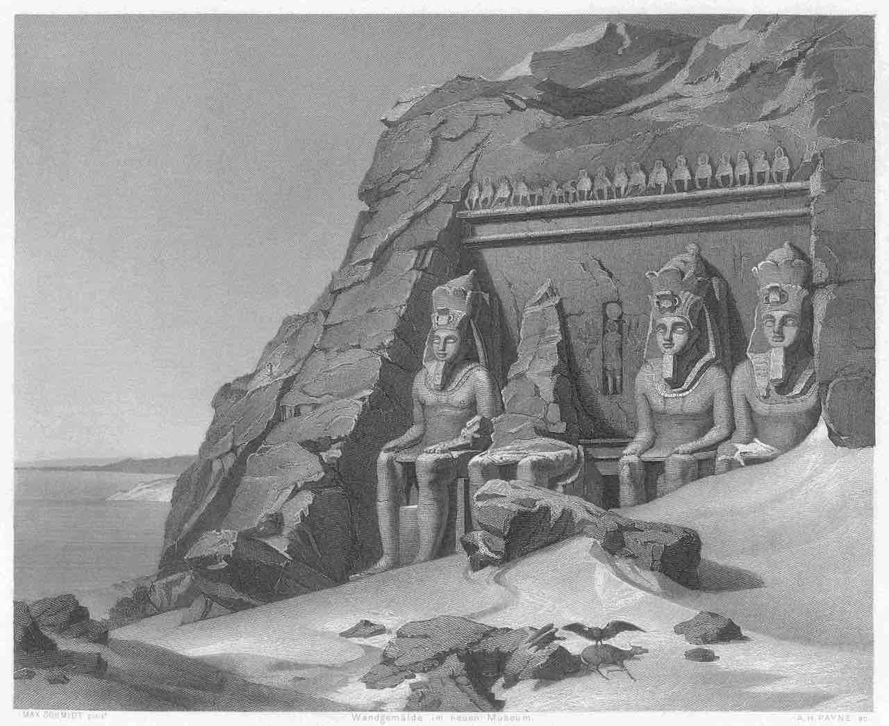 Abu Simbel antes del traslado