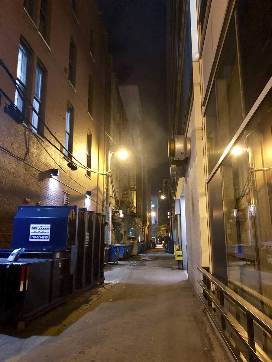 Típico callejón de Chicago