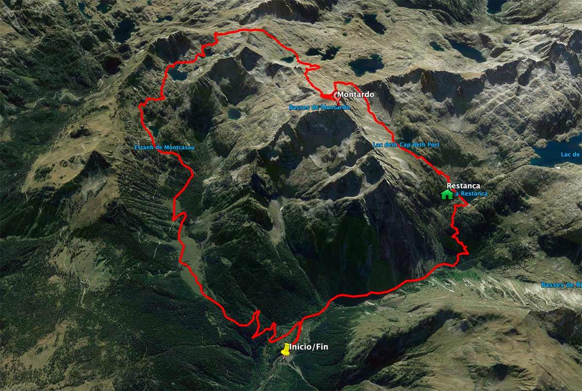 Mapa del Montardo