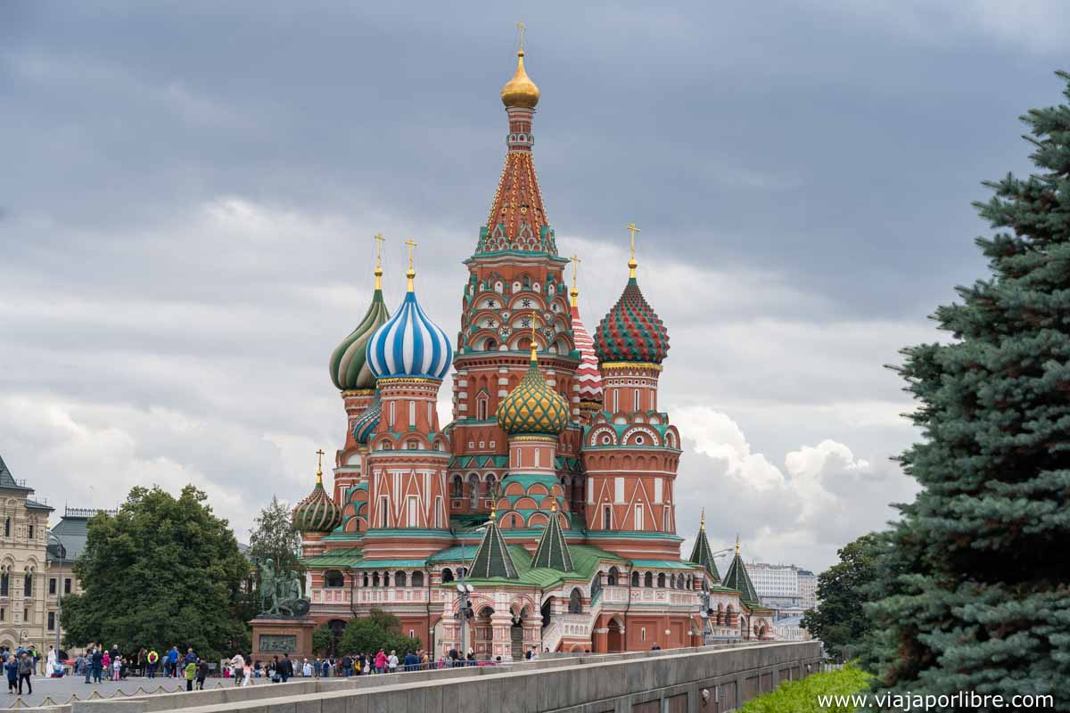 Catedral de San Basilio junto al Kremlin