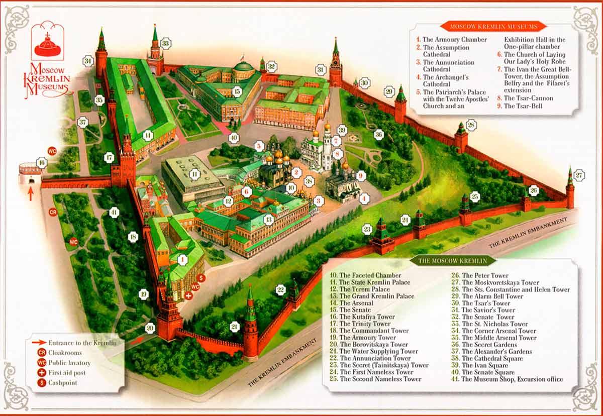 Mapa del Kremlin