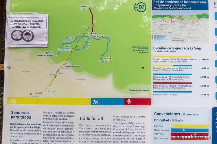 Mapa Quebrada la Vieja