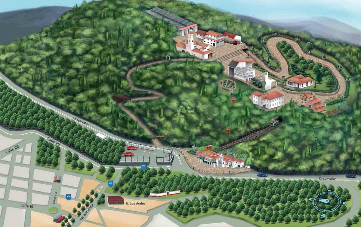 Mapa del Cerro de Monserrate