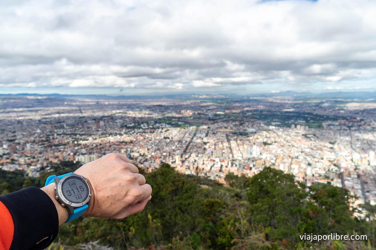 A casi 3.200m sobre Bogotá