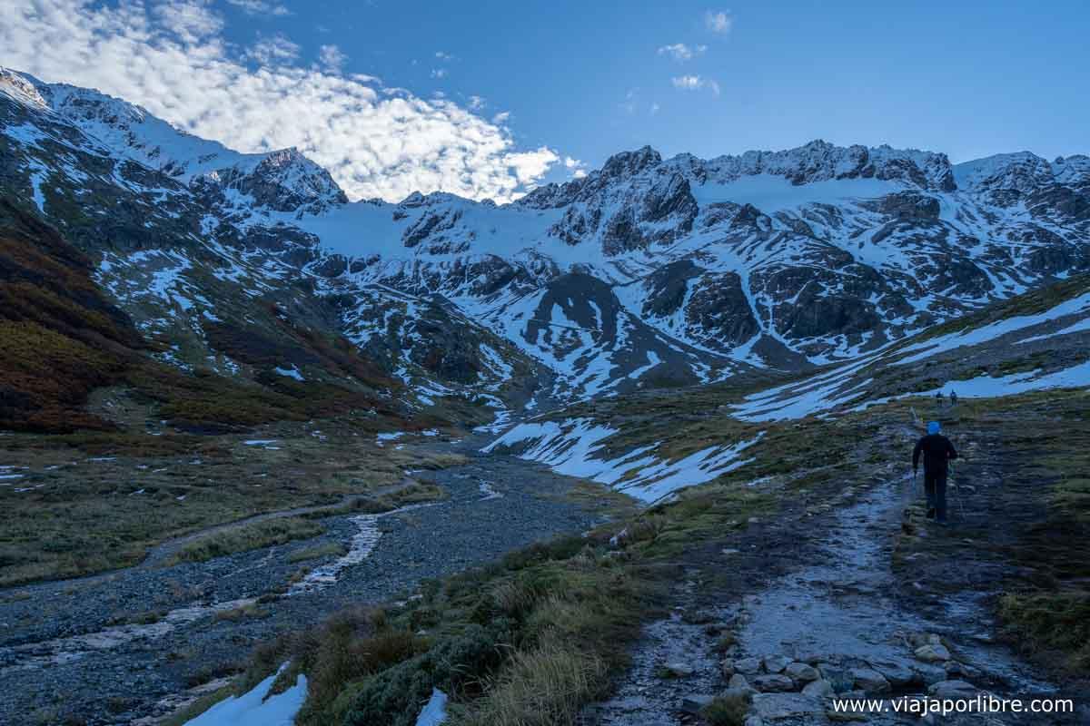 De camino al glaciar Martial