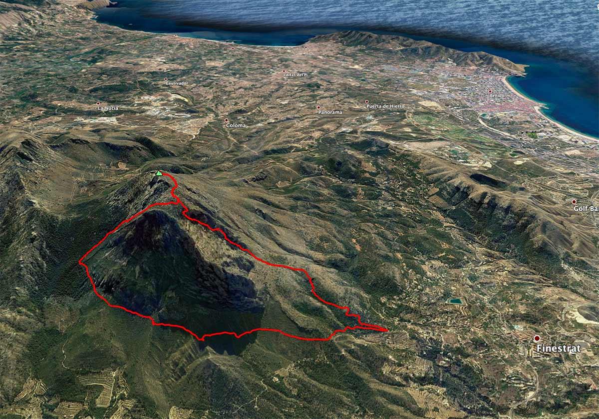 Mapa Puig Campana