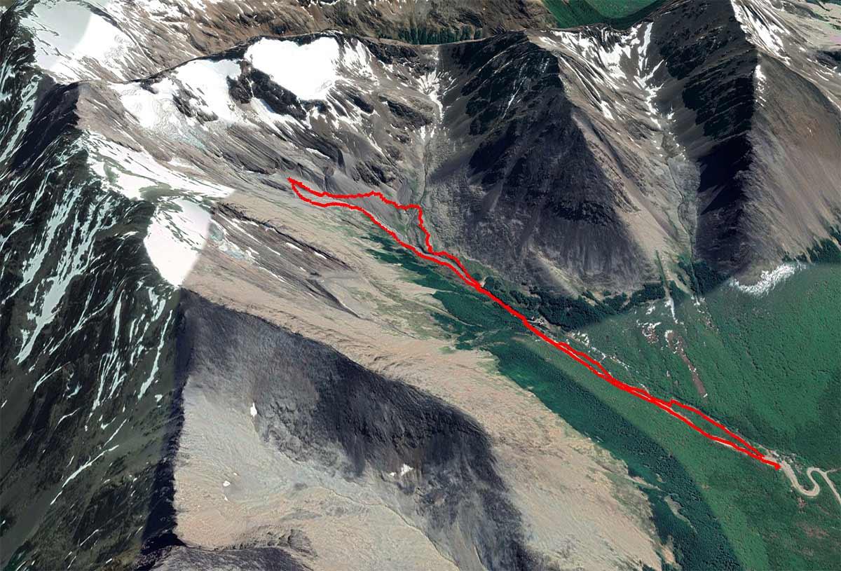 Ruta glaciar Martial