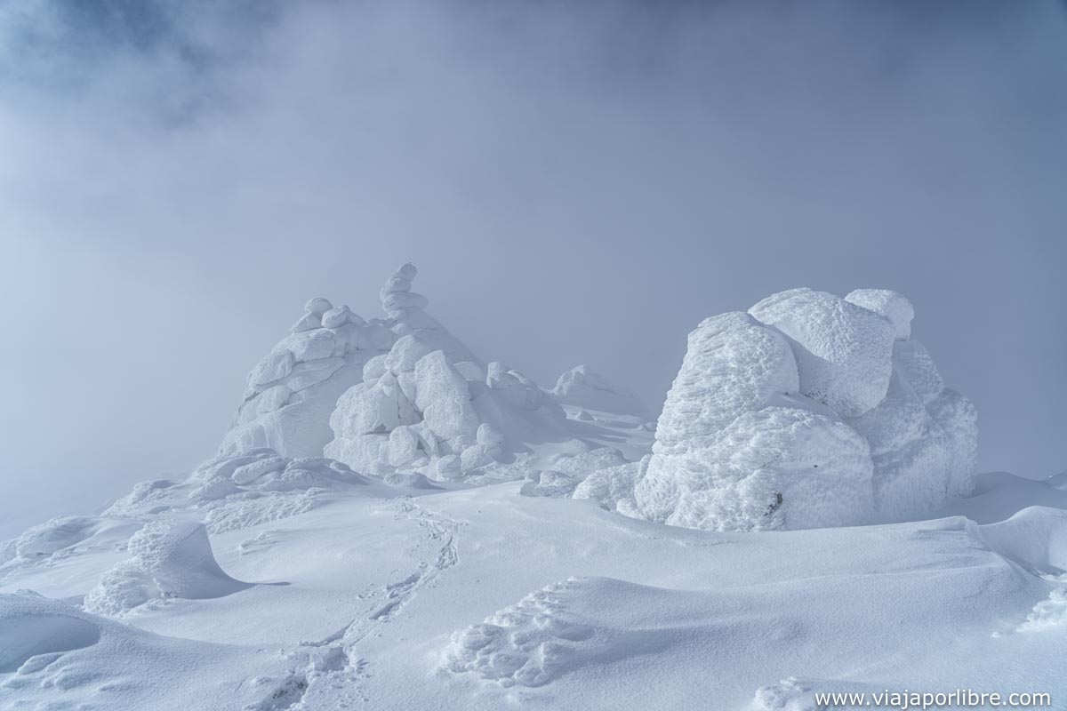 Cresta en dirección al pico Zapatero