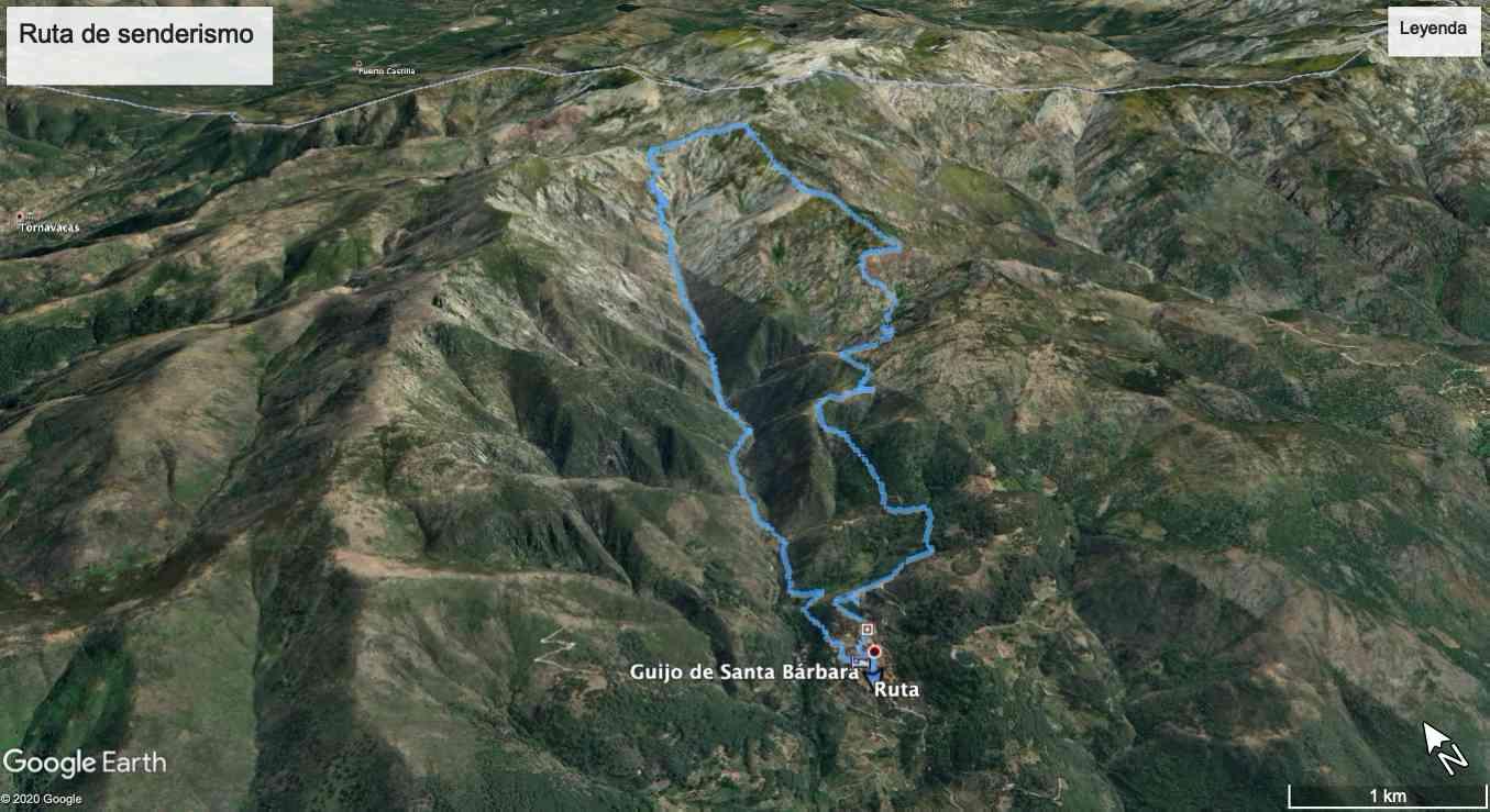 Mapa de la ruta circular al Estecito
