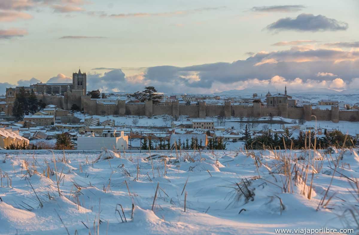La muralla en invierno