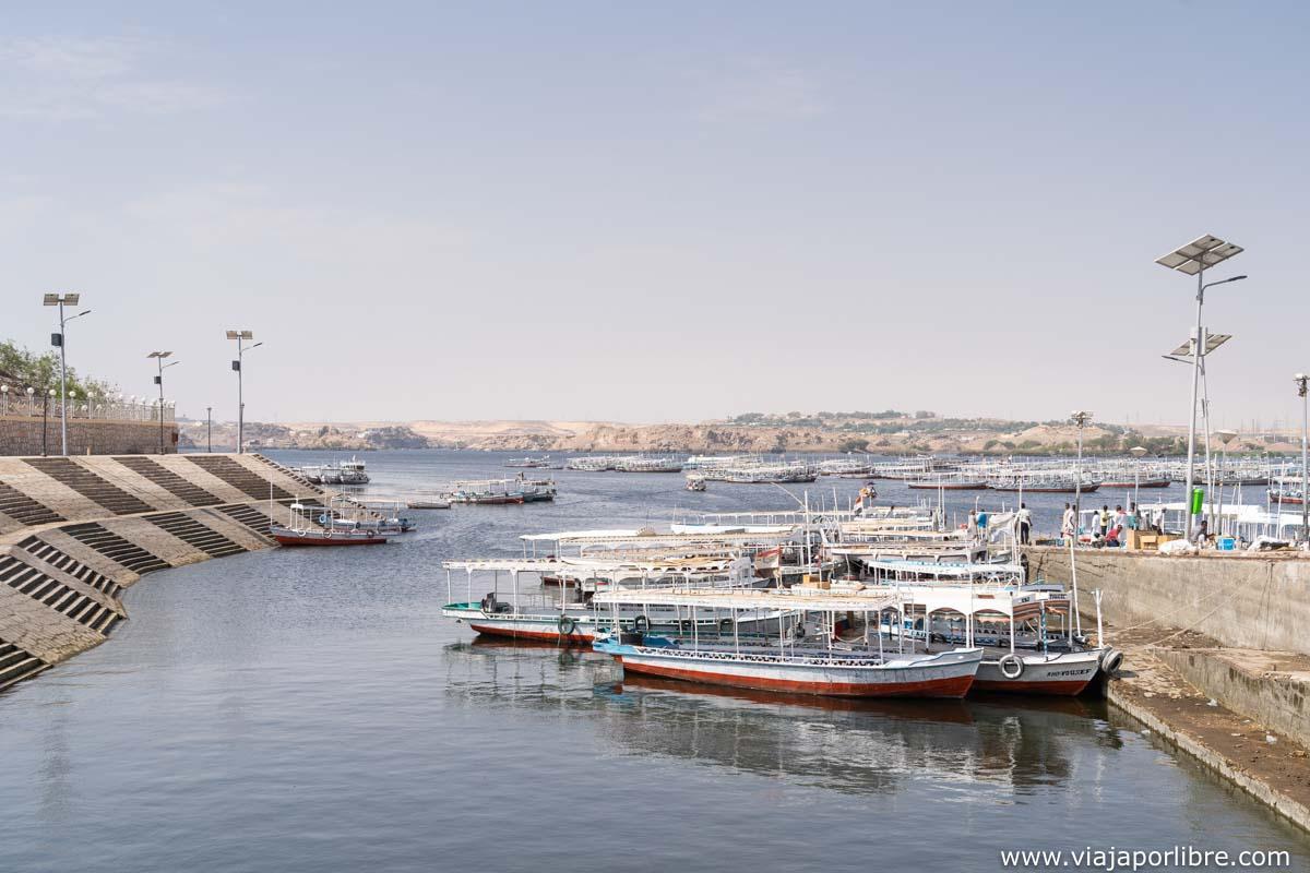 Zona portuaria en el Nilo