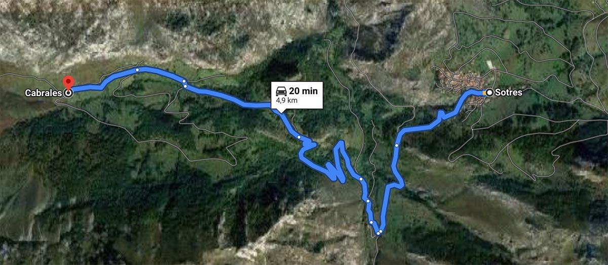 Mapa para llegar al parking