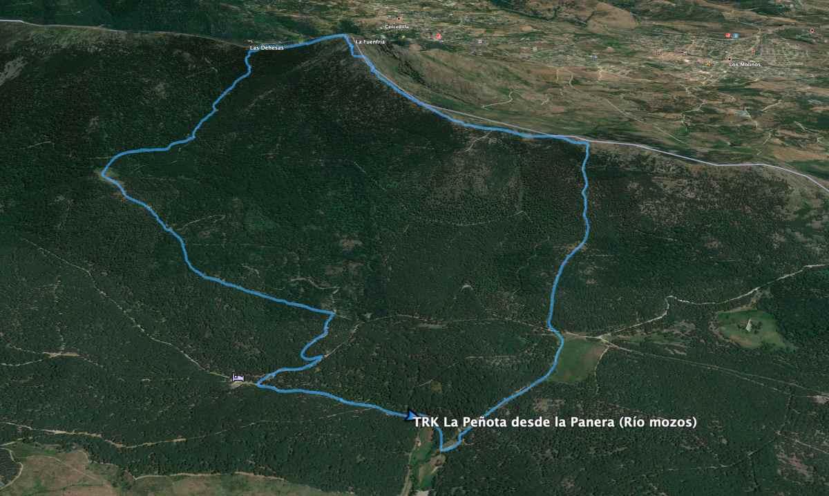 Plano ruta de la Peñota