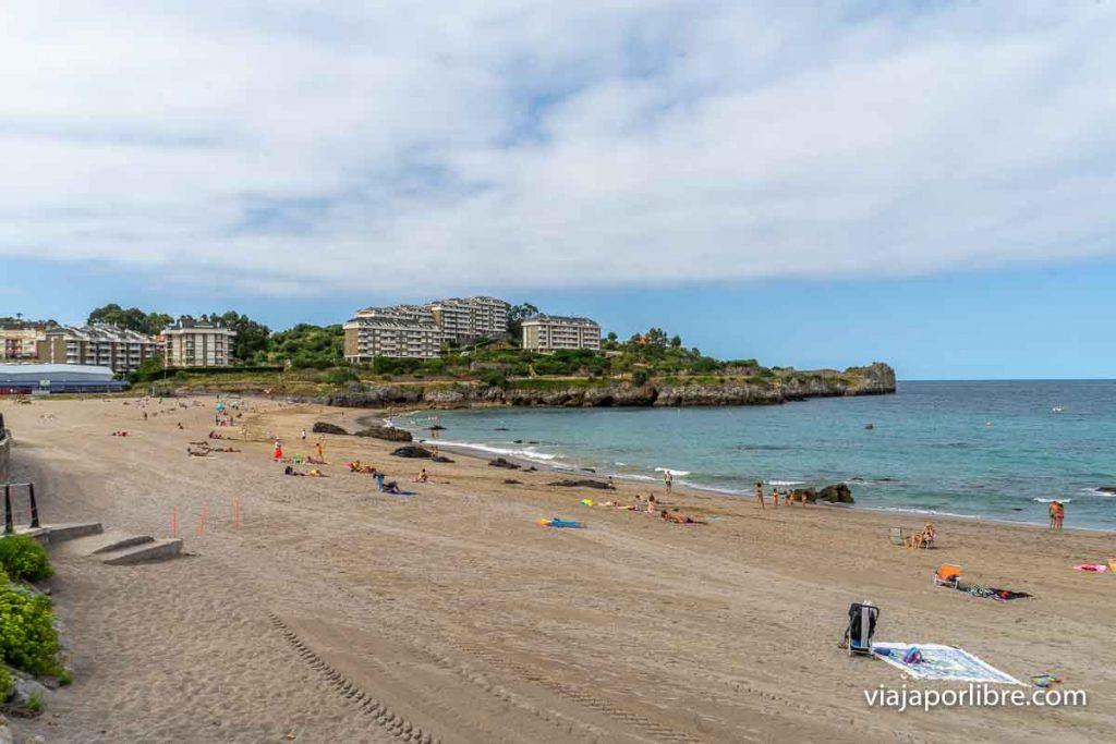 La playa de Ostende en Castro Urdiales