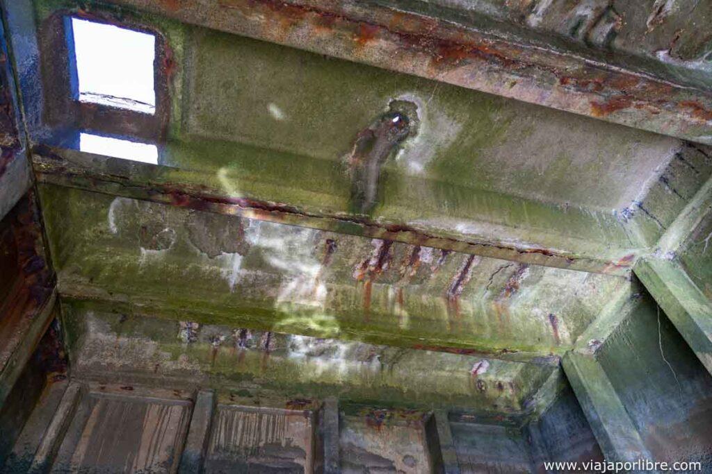 Interior del bloque de hormigón