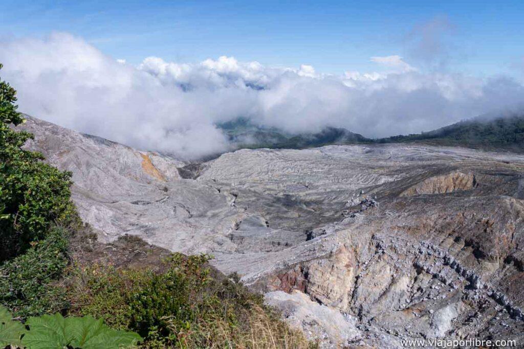 Lugar por donde bajó el río tras la erupción